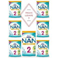PACK 6+1: Leche NAN 2 Expert Nestlé 800gr 6m+